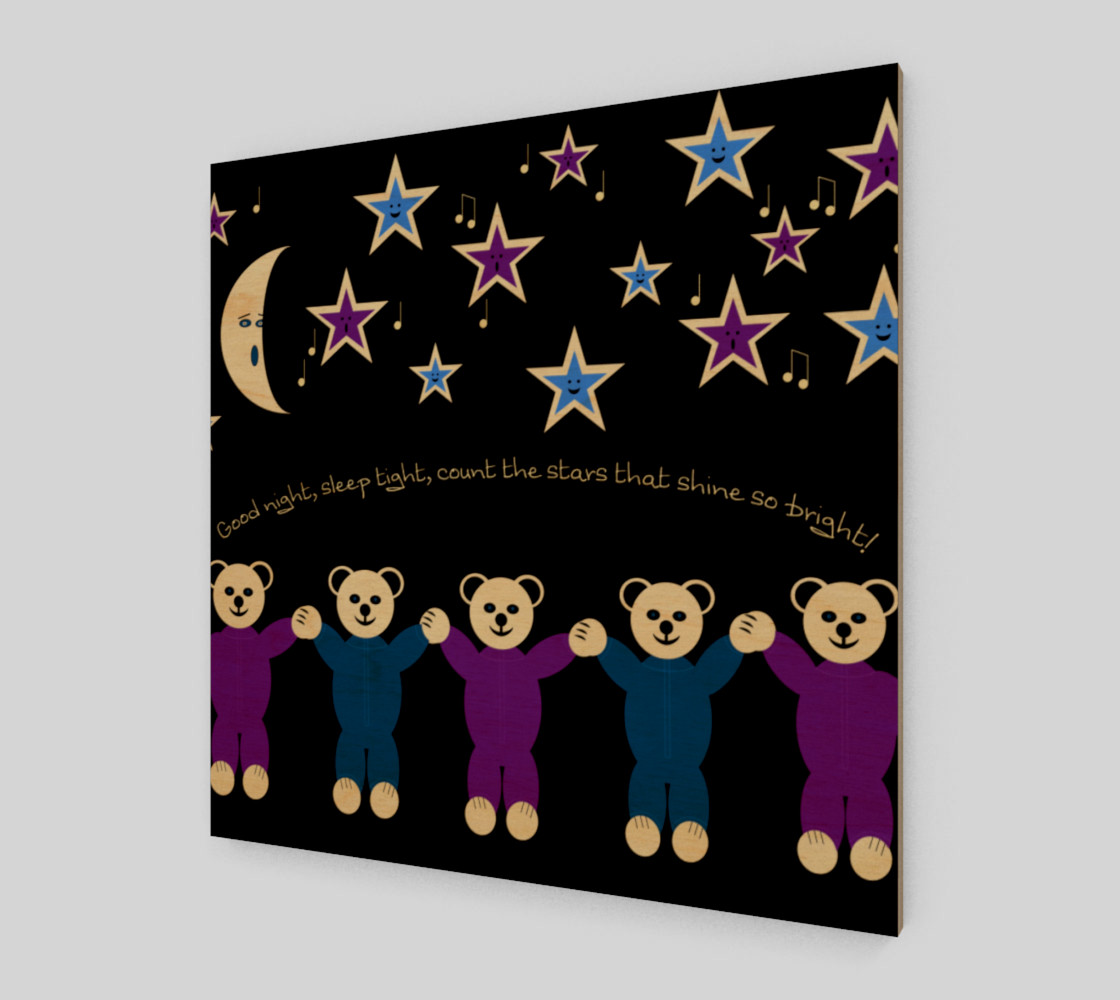 Purple and Blue Sleepy Bears Wall Art poster preview #1