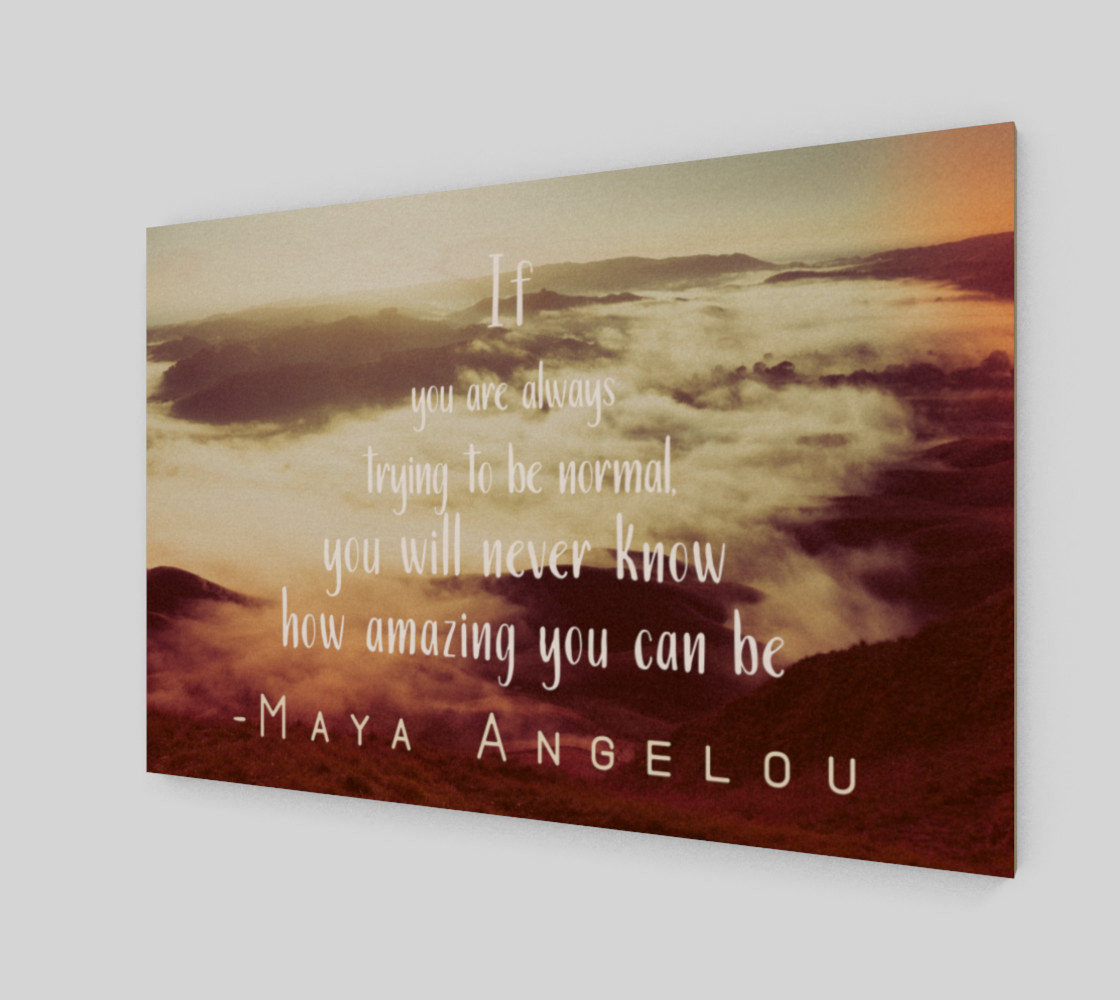 Maya Angelou 'amazing' quote - wall art preview #2