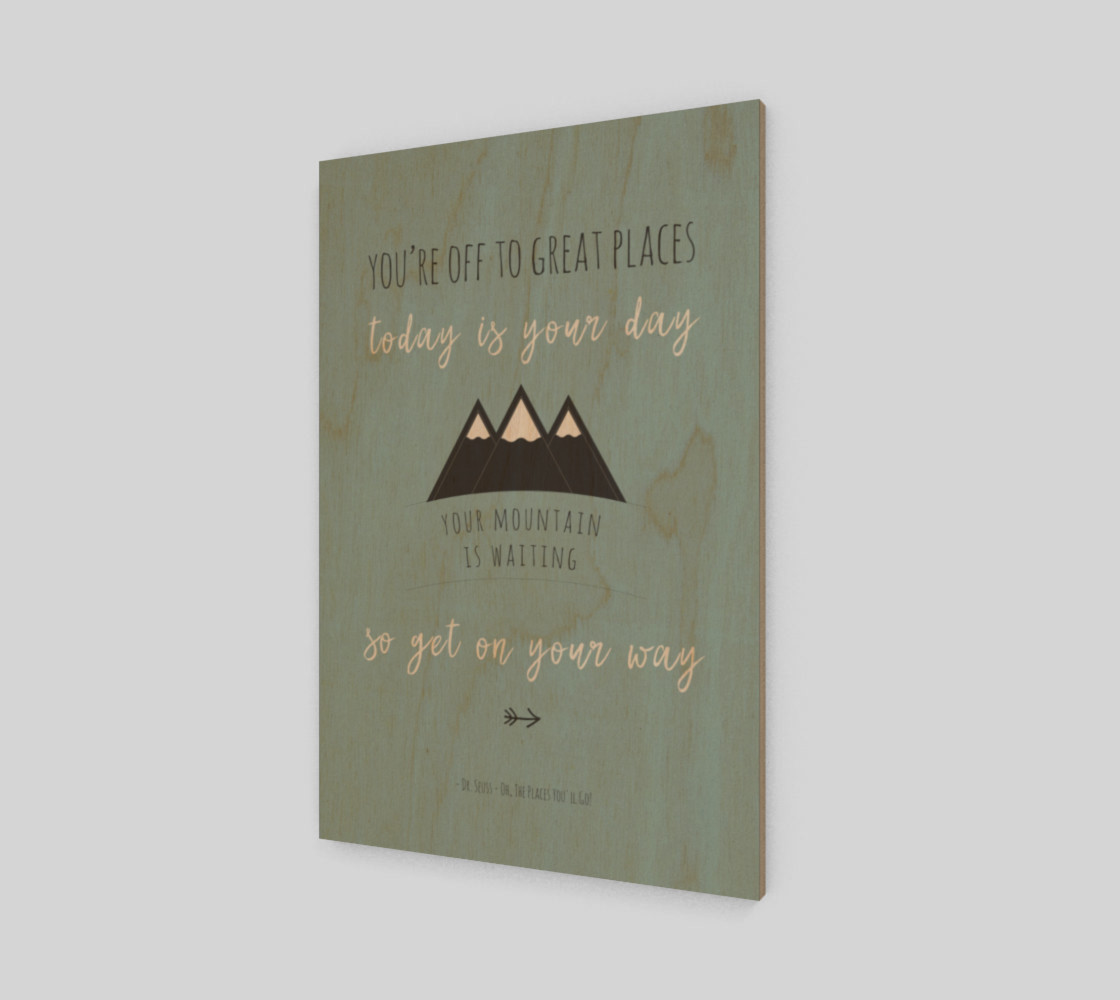 Dr Seuss 'your mountain is waiting' quote - wall art preview #1