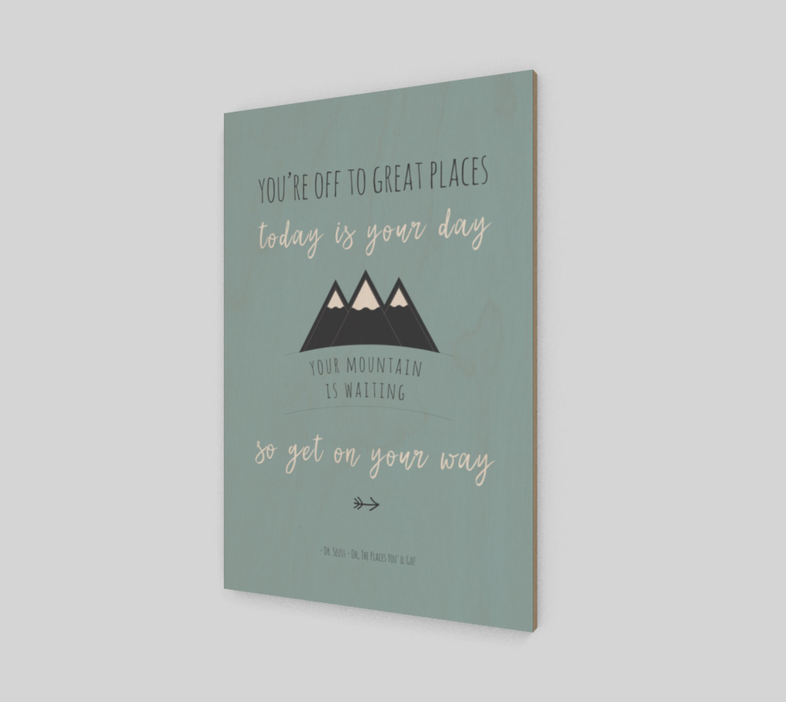 Dr Seuss 'your mountain is waiting' quote - wall art preview #2