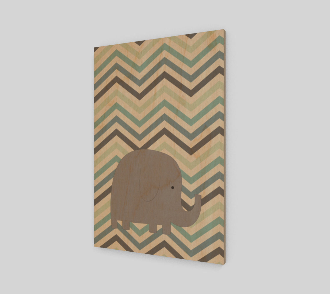 Elephant and chevron - wall art preview #1