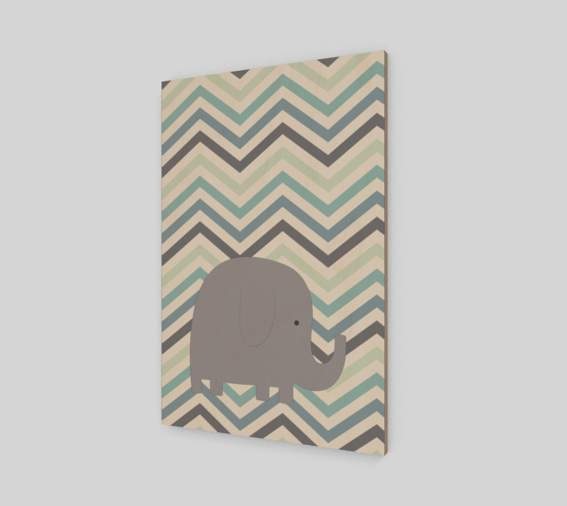 Elephant and chevron - wall art preview #2