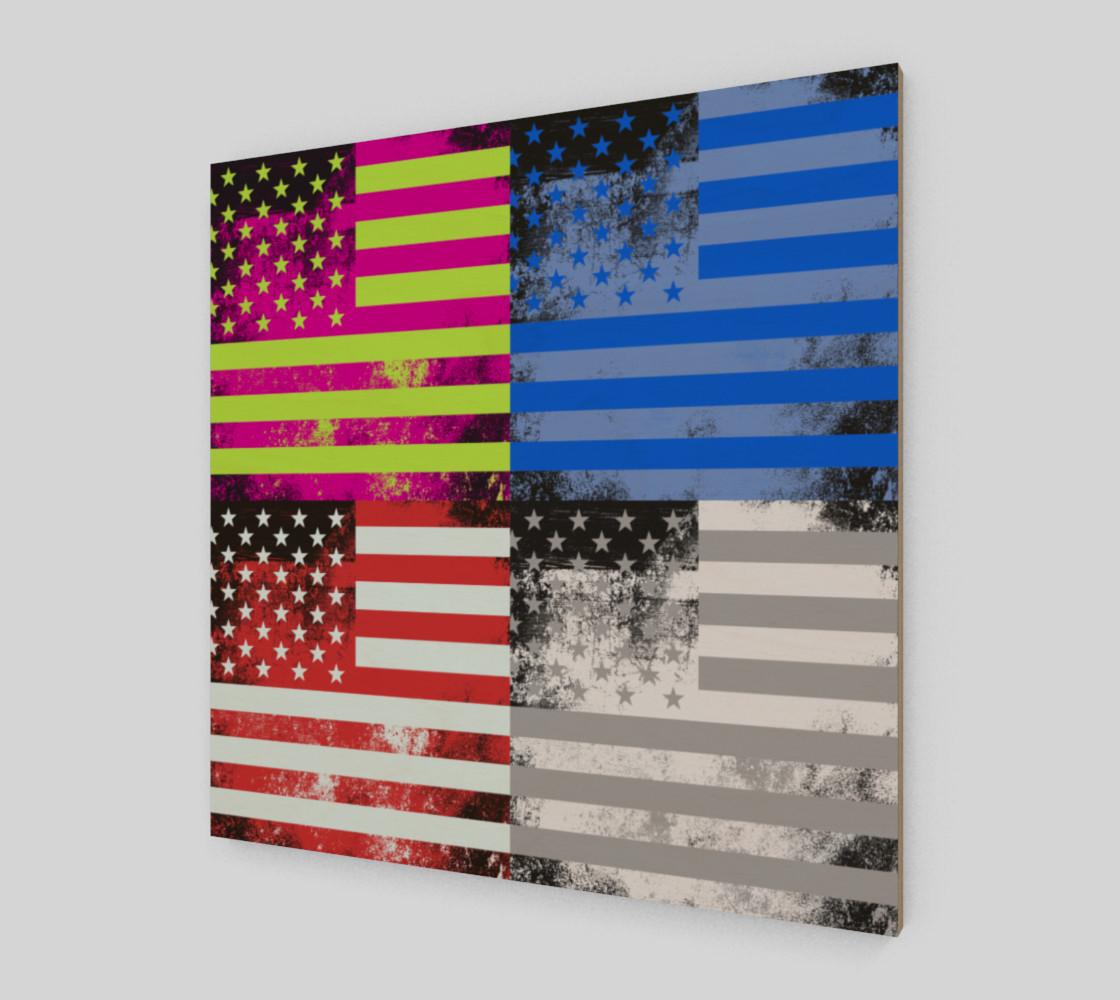 American Flag Pop Art preview #2