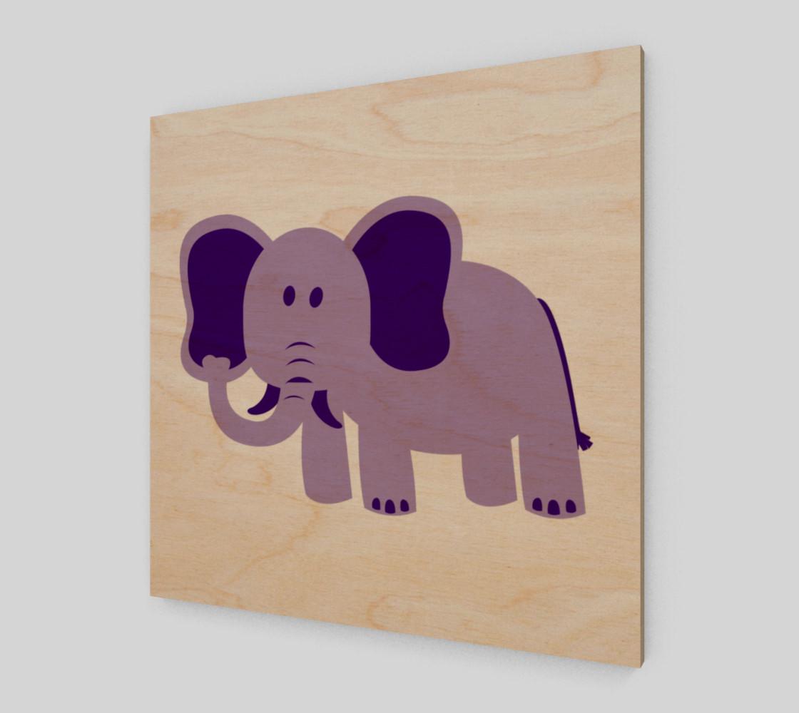 Purple Elephant Wall Art preview #1