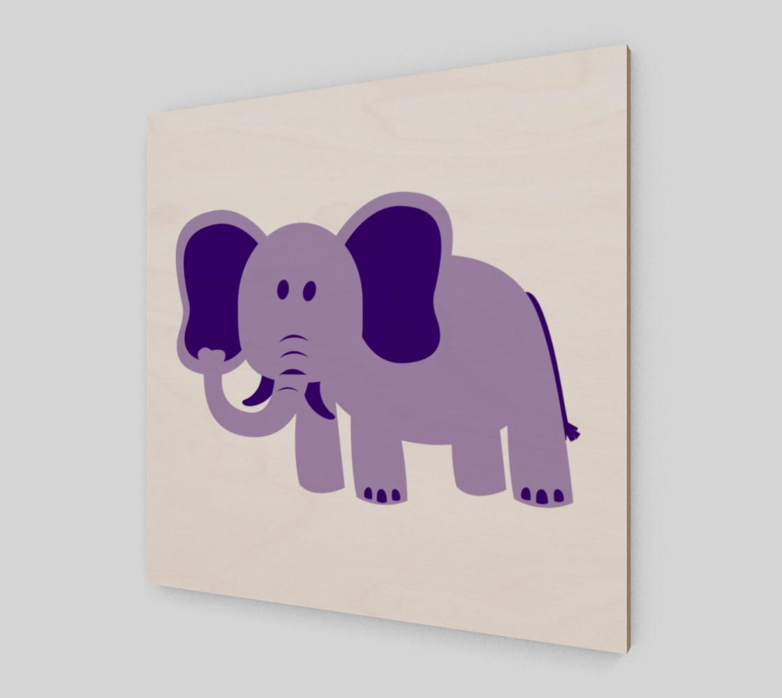 Purple Elephant Wall Art preview #2