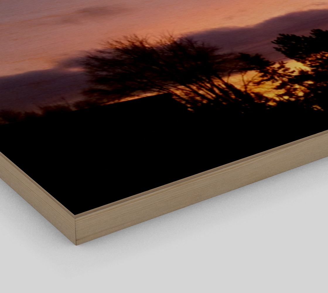 February Sunset in the Trailers Wall Art canvas preview #3