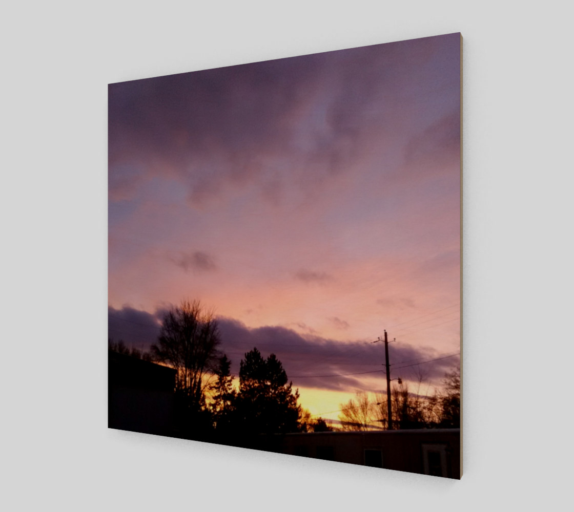 February Sunset in the Trailers Wall Art canvas preview #2