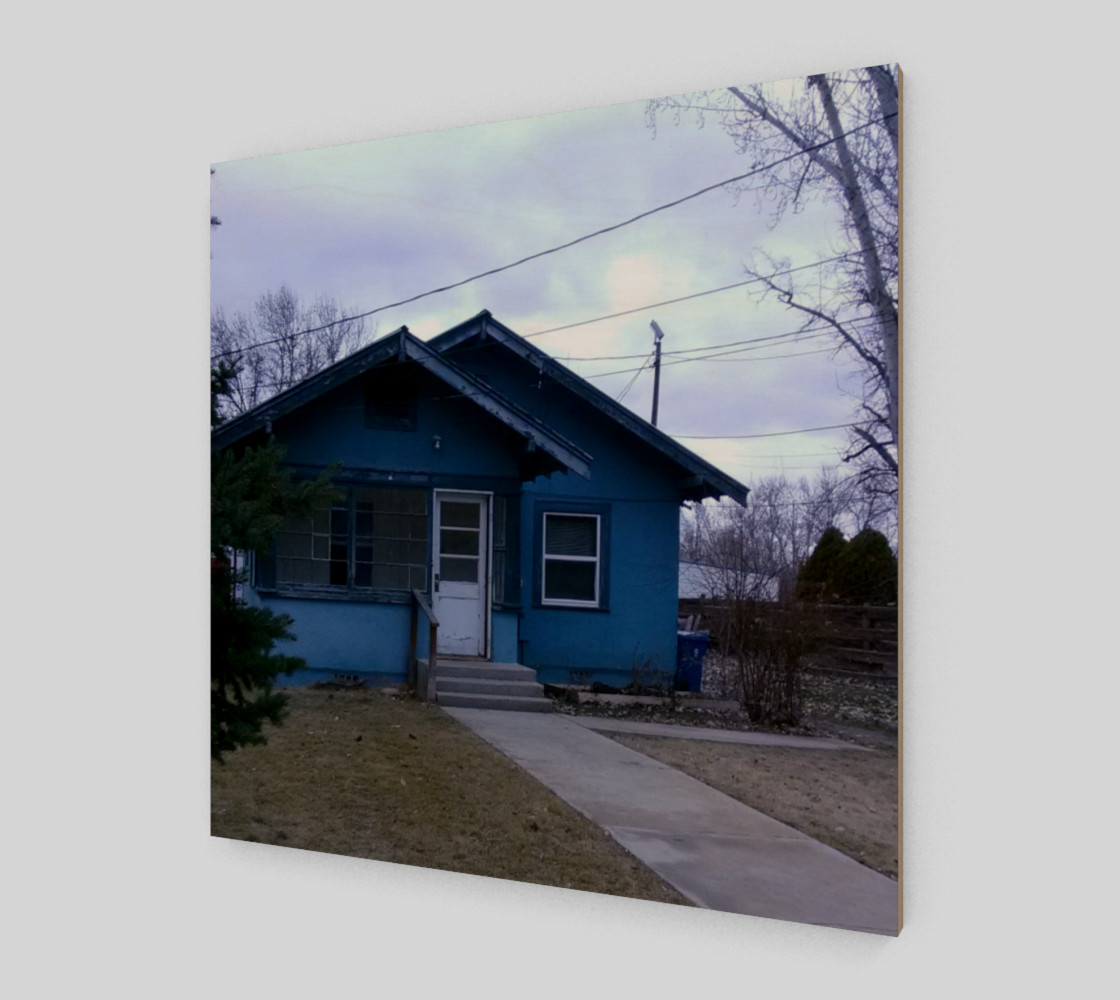 Little Blue House in GC ID Wall Art canvas preview #2