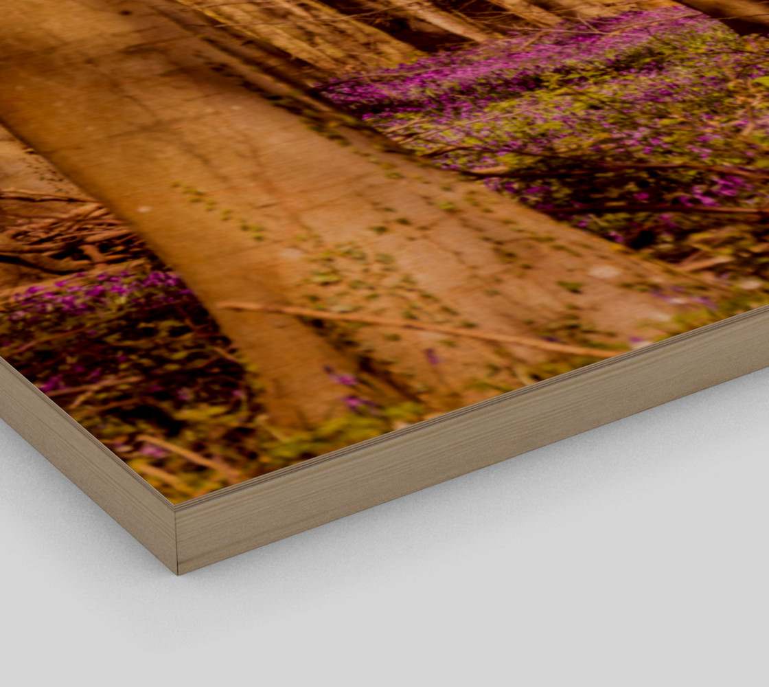 purple forest floor wall art preview #3