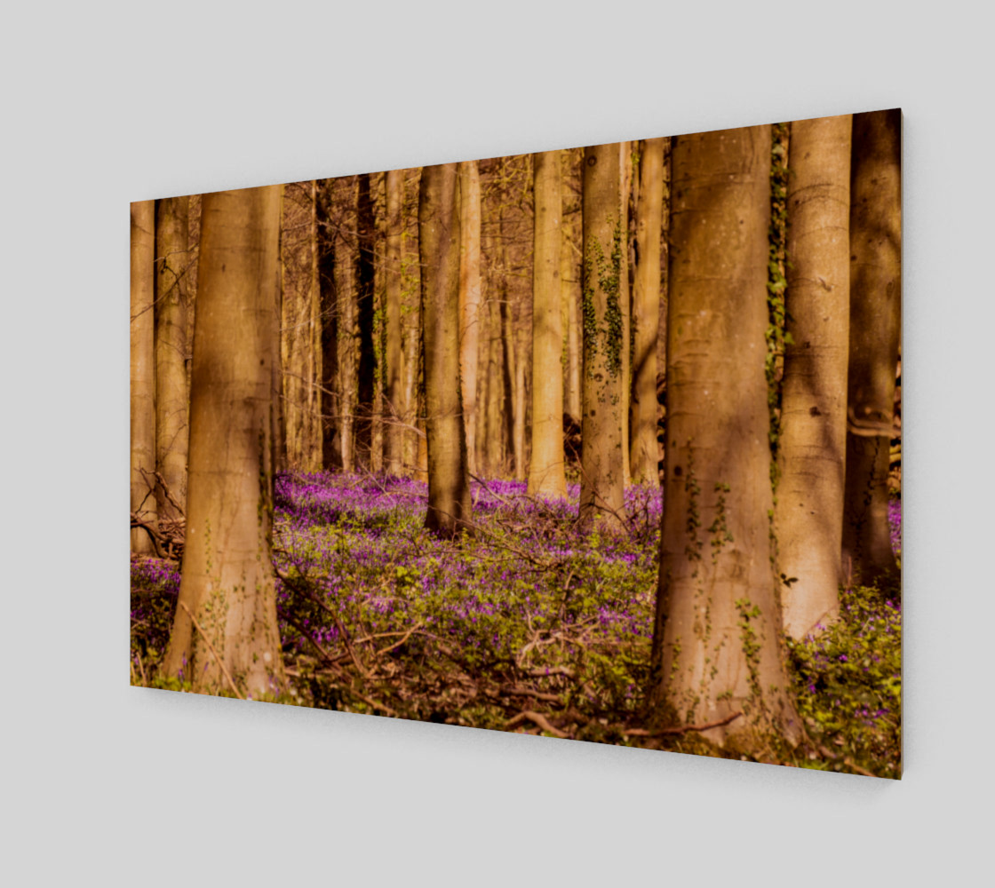 purple forest floor wall art preview #2