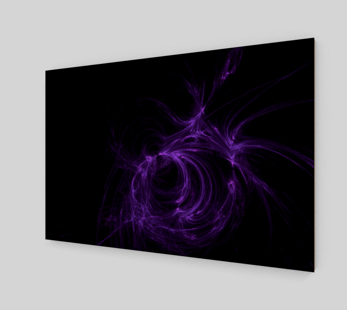 purple fractal wall art preview #2