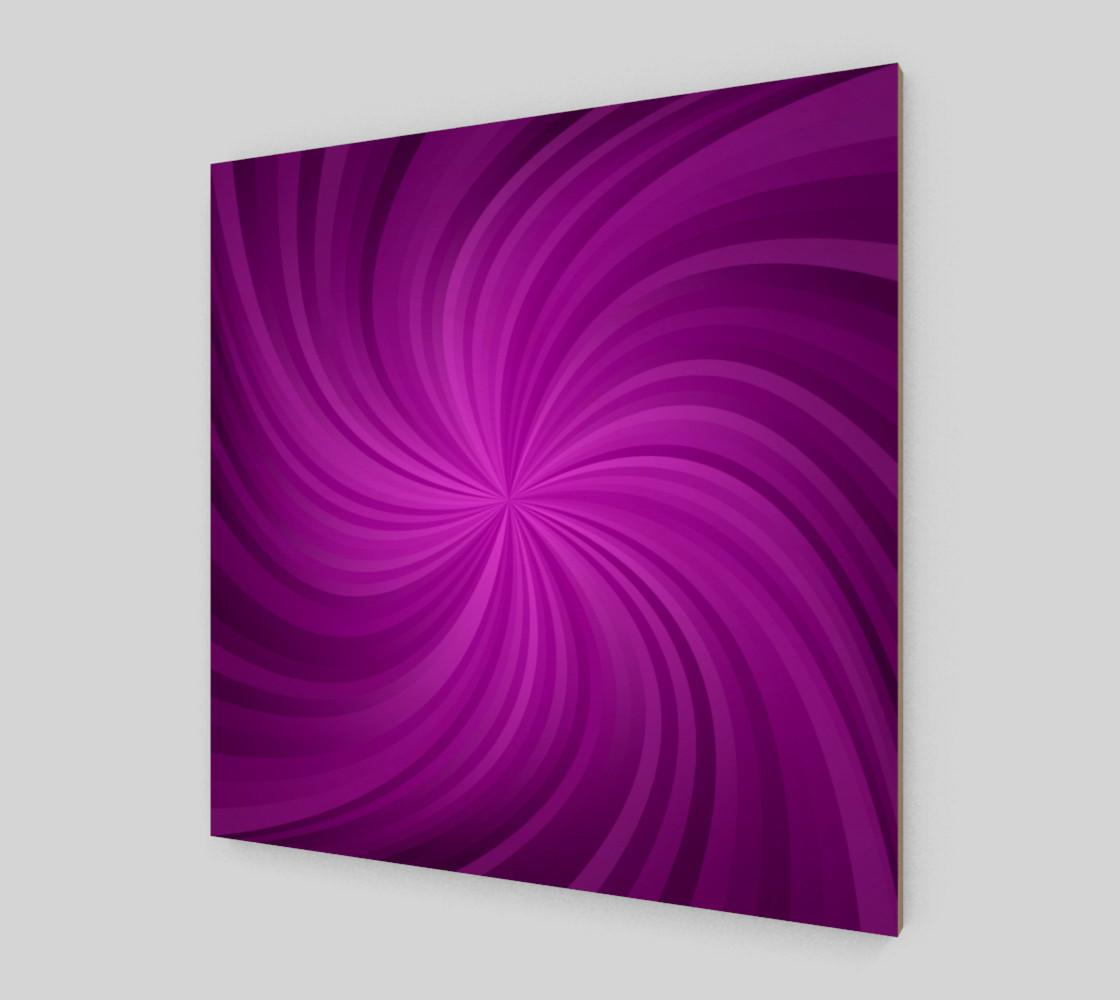 purple spiral wall art preview #2