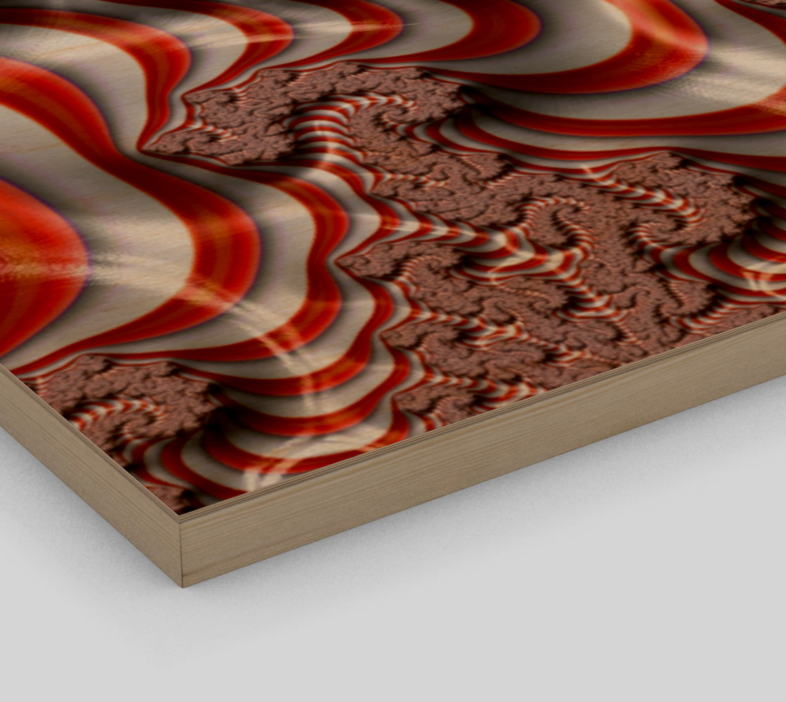 Candy Cane Fractal Wall Art Wood Print preview #3