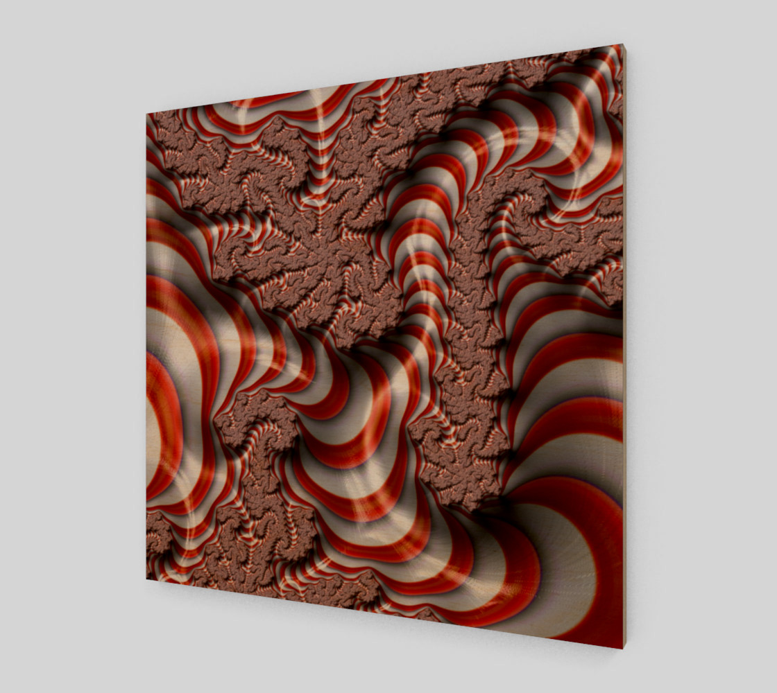 Candy Cane Fractal Wall Art Art Print preview #1