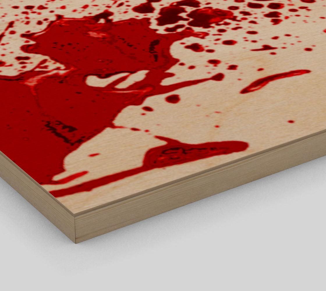 Blood Splatter One Wall Art preview #3