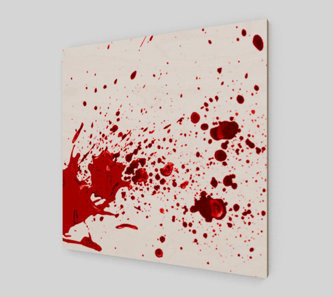 Blood Splatter One Wall Art preview #2