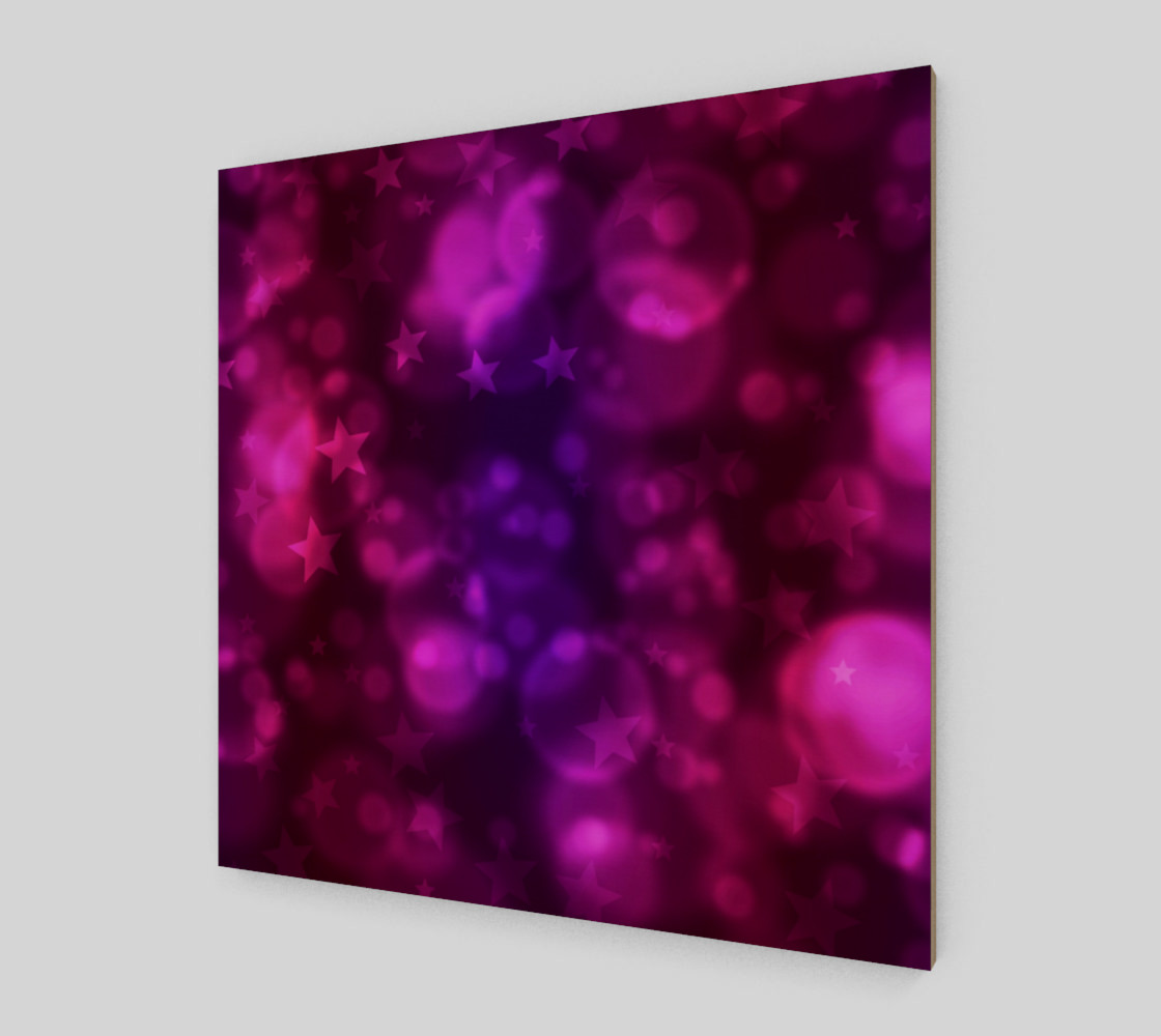 Purple Stars And Bubbles  preview #2