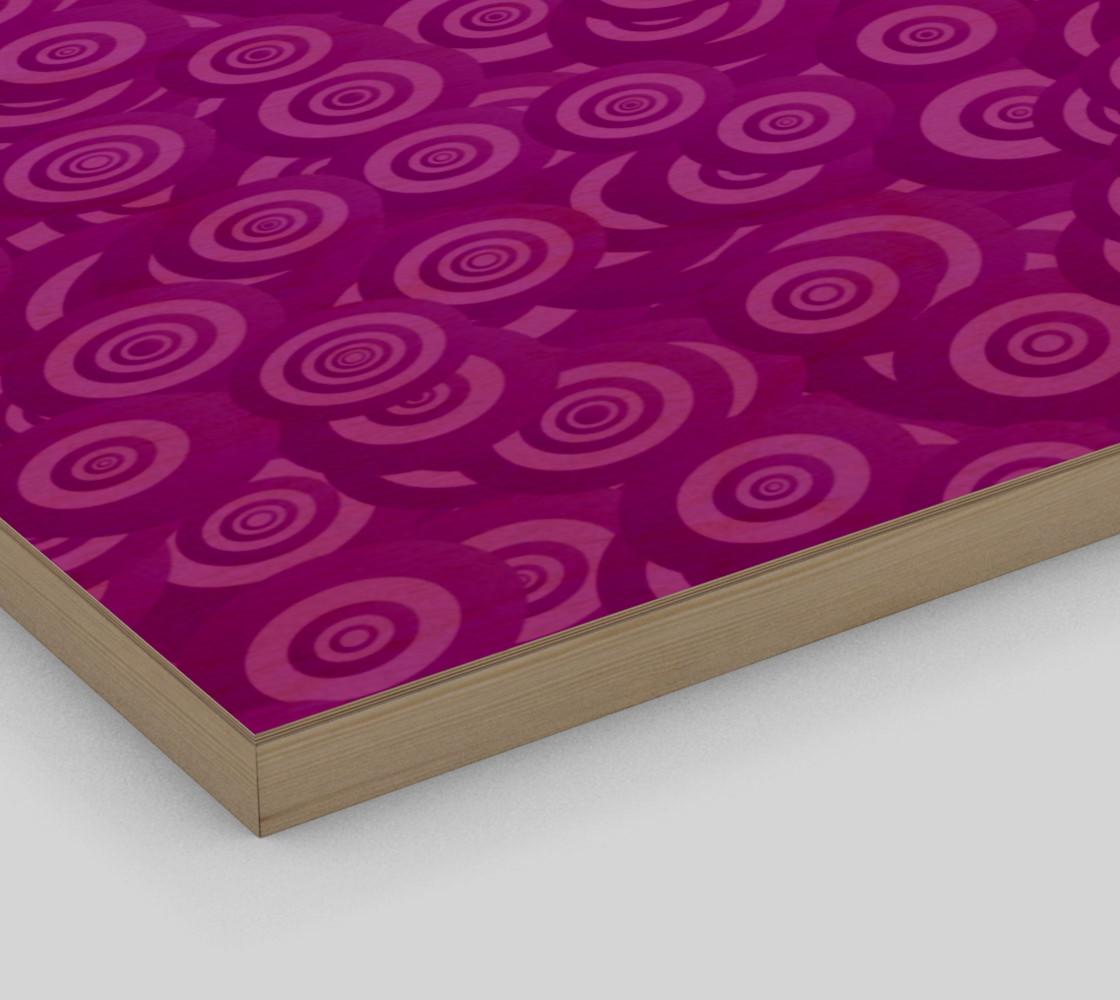 purple swirl wall art preview #3