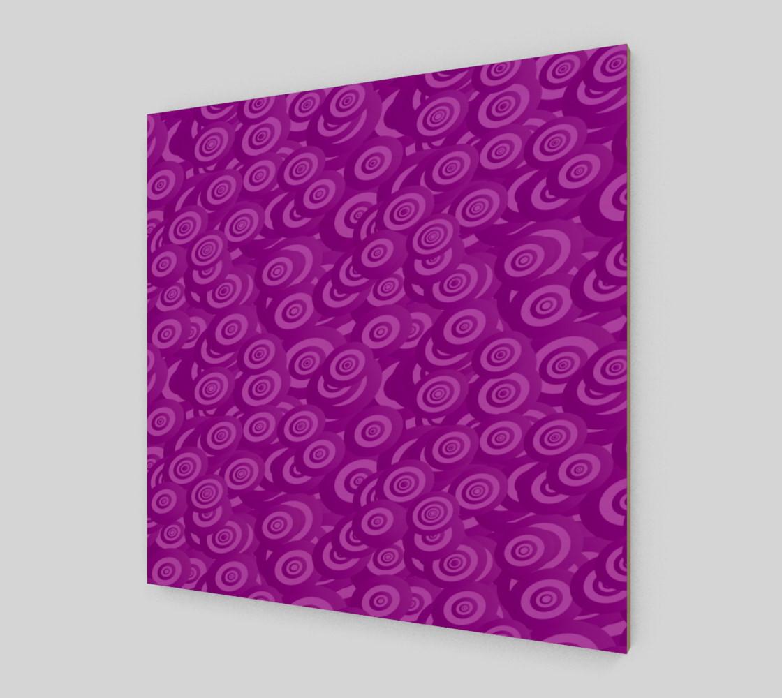 purple swirl wall art preview #2