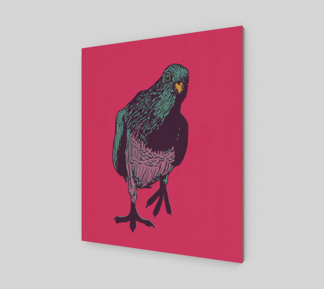 20'x24' Poster - Curious Pigeon in Bright preview #2