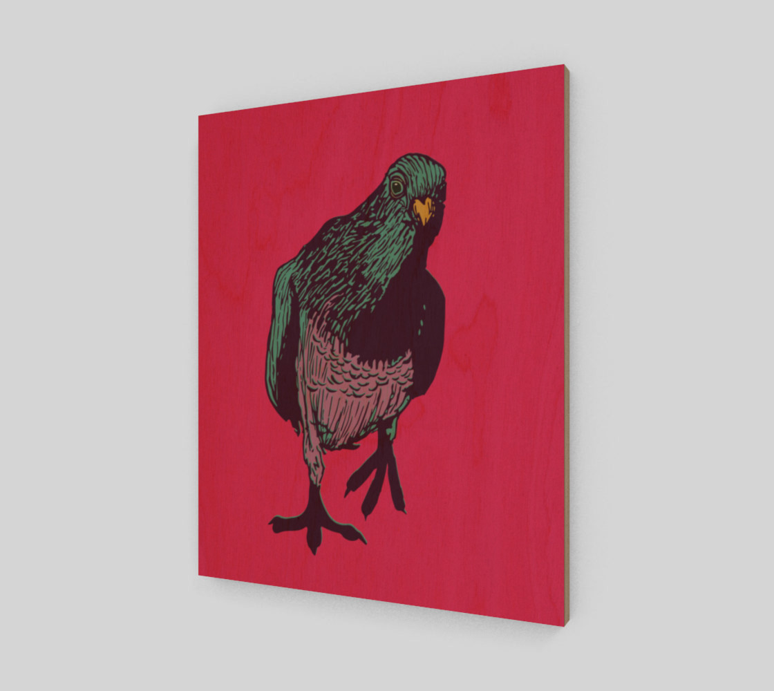 """16""""x20"""" Poster - Curious Pigeon in Bright preview #1"""