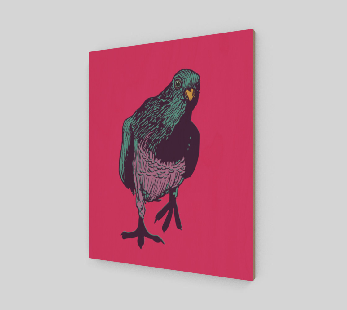"""16""""x20"""" Poster - Curious Pigeon in Bright preview #2"""