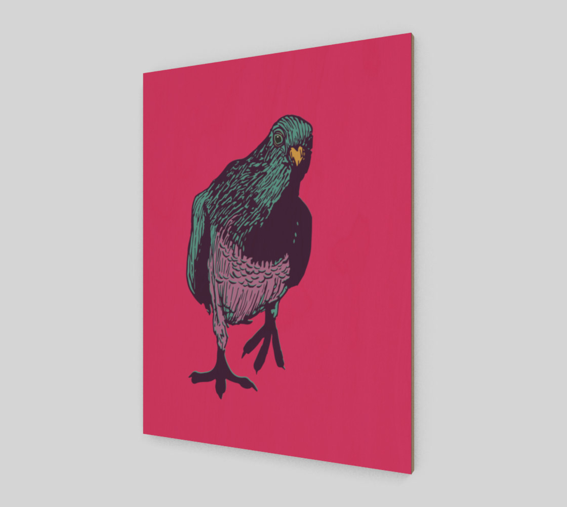 3:4 Poster - Curious Pigeon in Bright preview #2