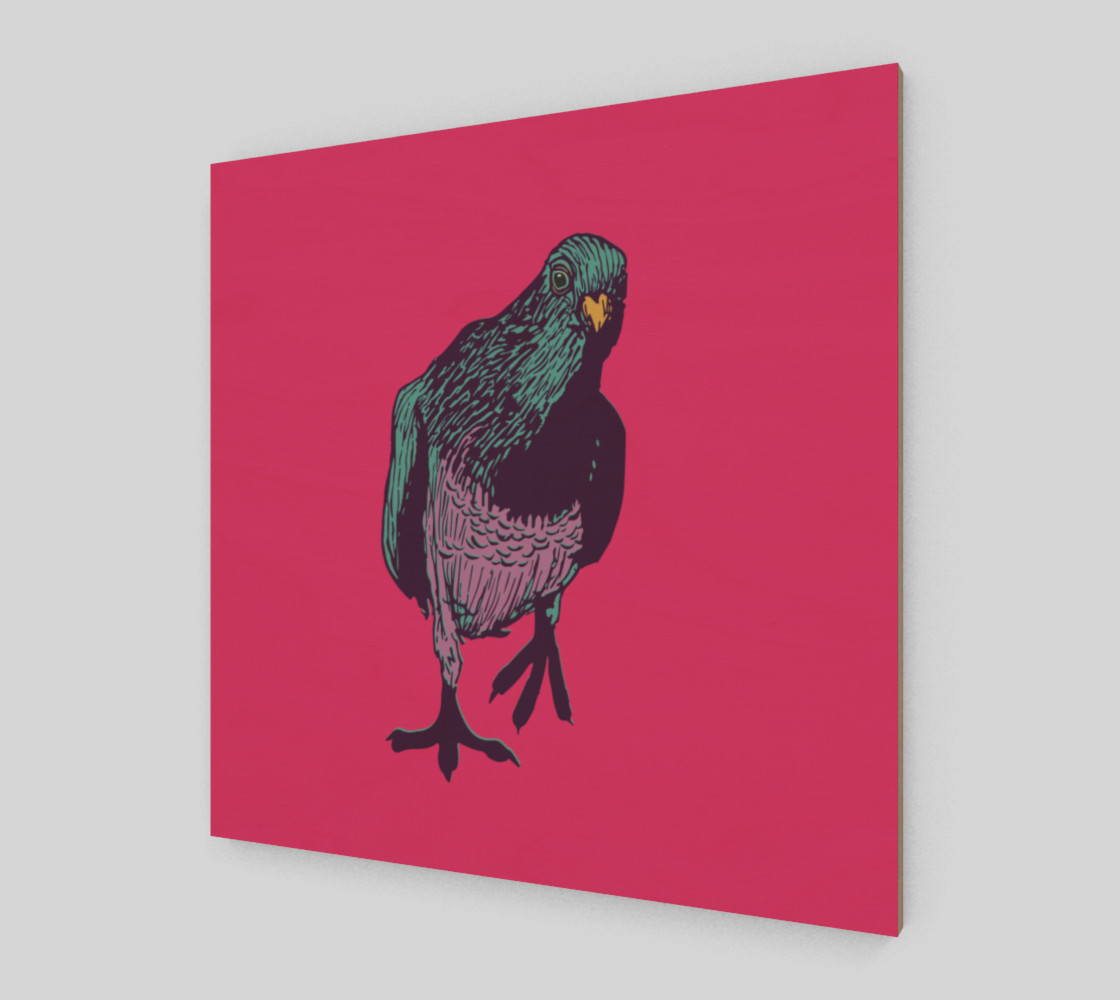 1:1 Art Print - Curious Pigeon in Bright preview #2