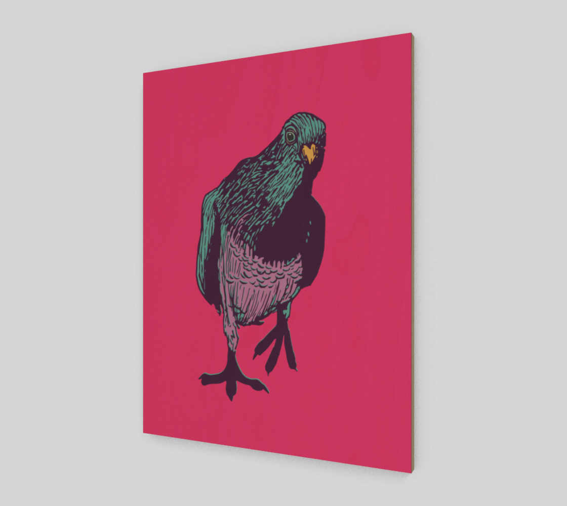 3:4 Art Print - Curious Pigeon in Bright preview #2