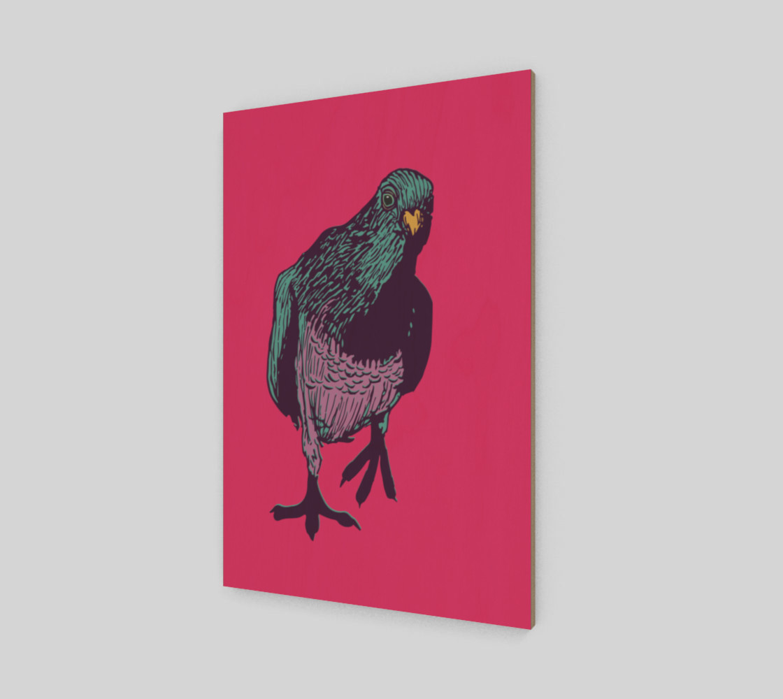 2:3 Art Print - Curious Pigeon in Bright preview #2