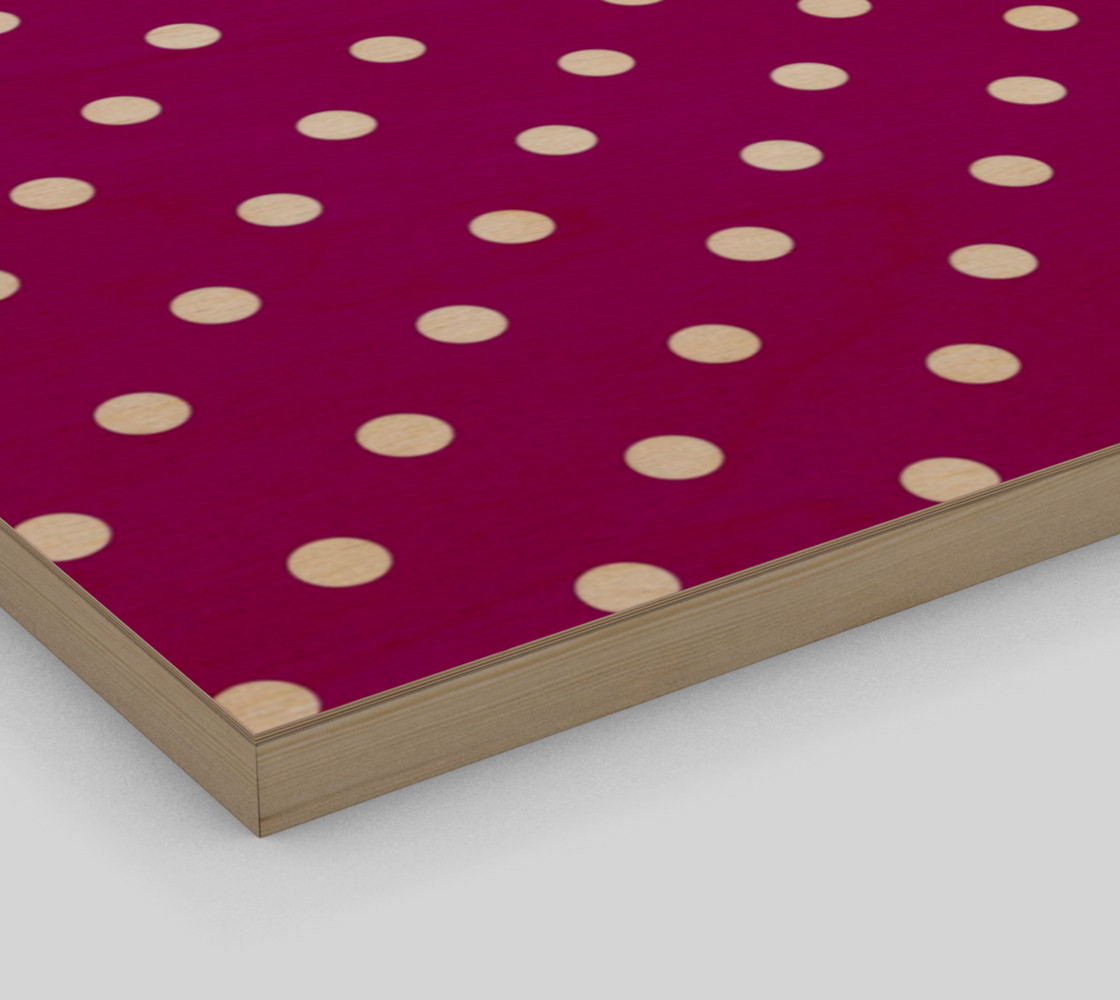 1950s Purple with White Polka Dots Wall Art preview #3
