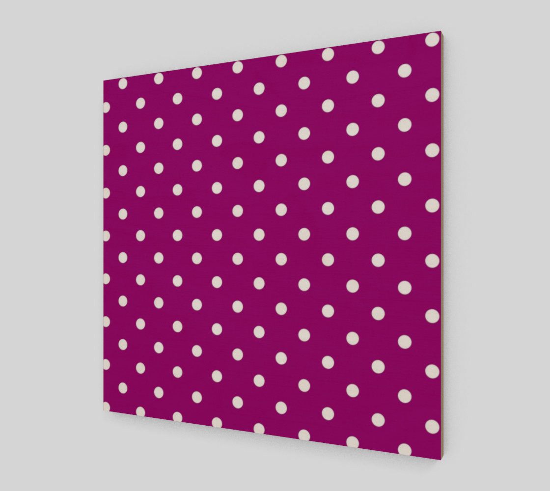 1950s Purple with White Polka Dots Wall Art preview #2