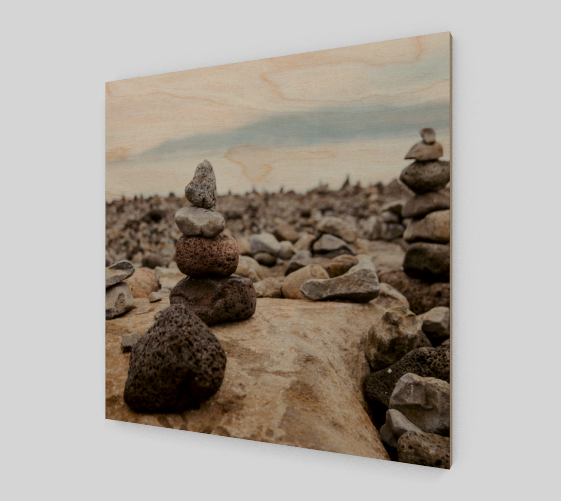 Aperçu de Zen Stones On Beach Wall Art #1