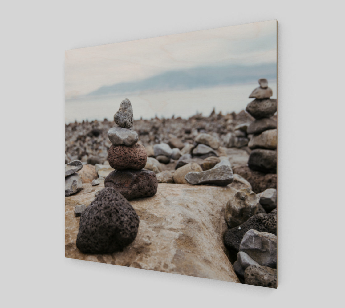 Aperçu de Zen Stones On Beach Wall Art #2