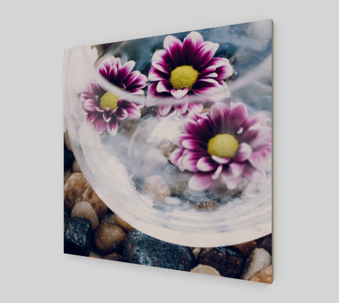 Purple Daisies Zen Wall Art preview #2