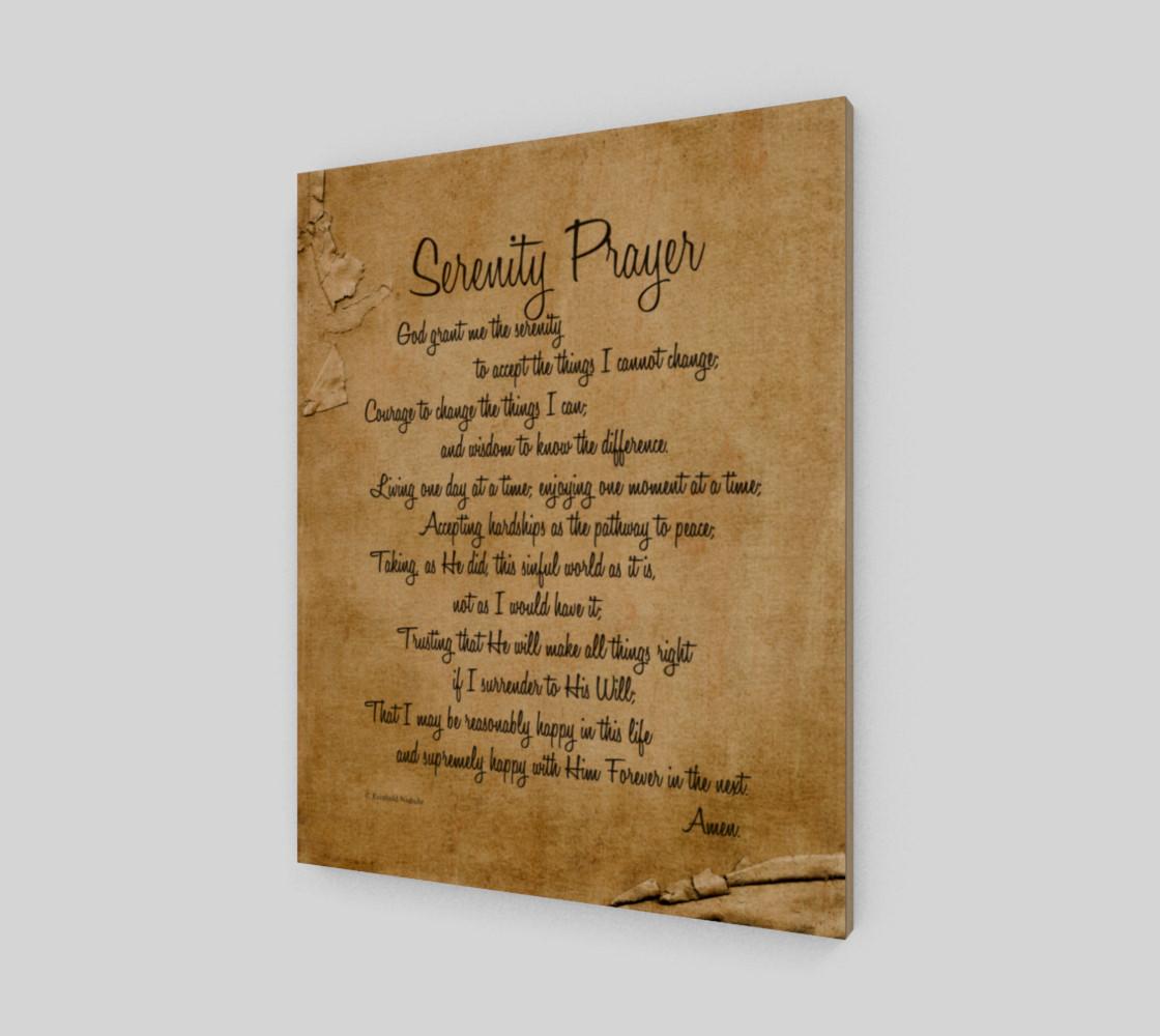 the full Serenity Prayer - 16x20 preview #1
