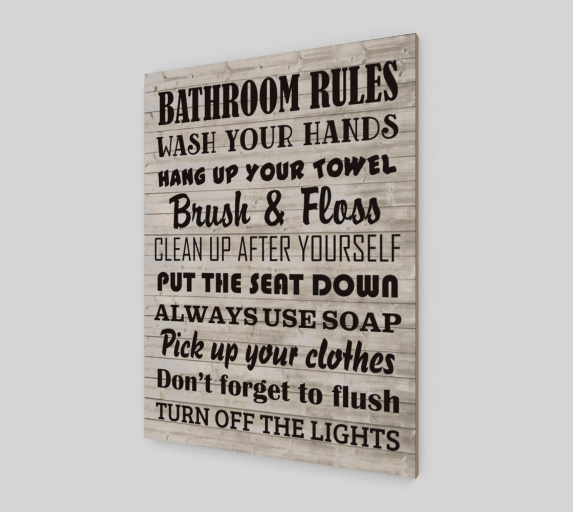 Bathroom Rules preview #2