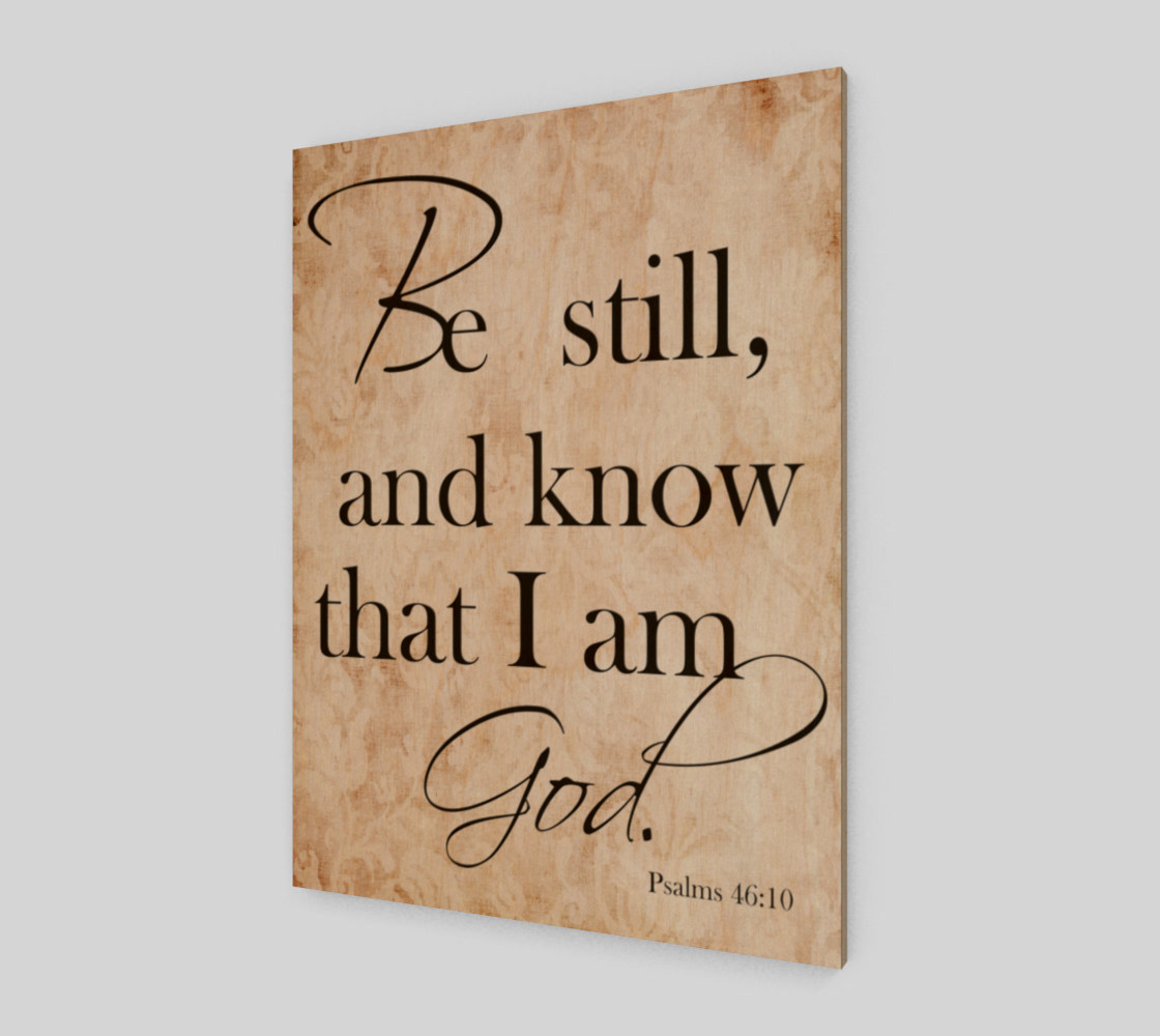 Be still and know that I am God preview #1