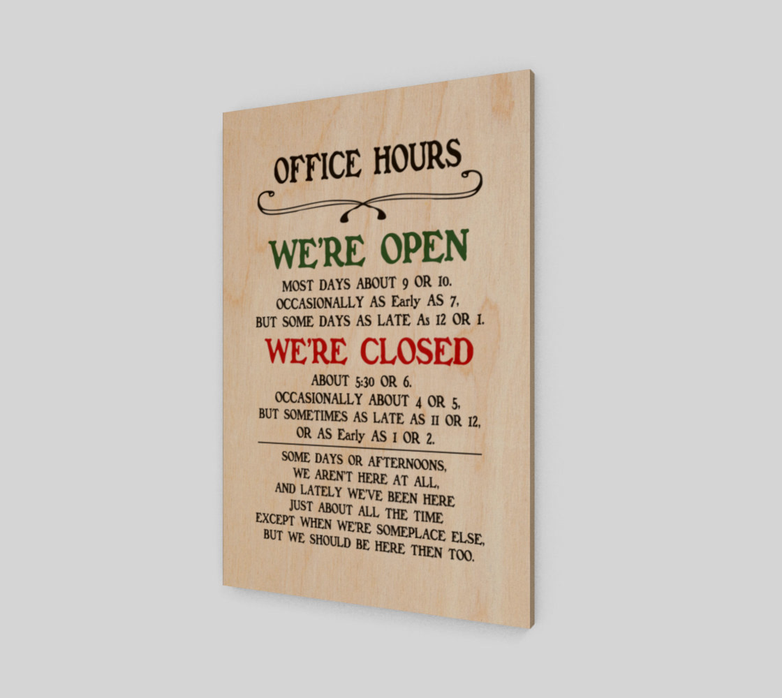 Office Hours preview #1