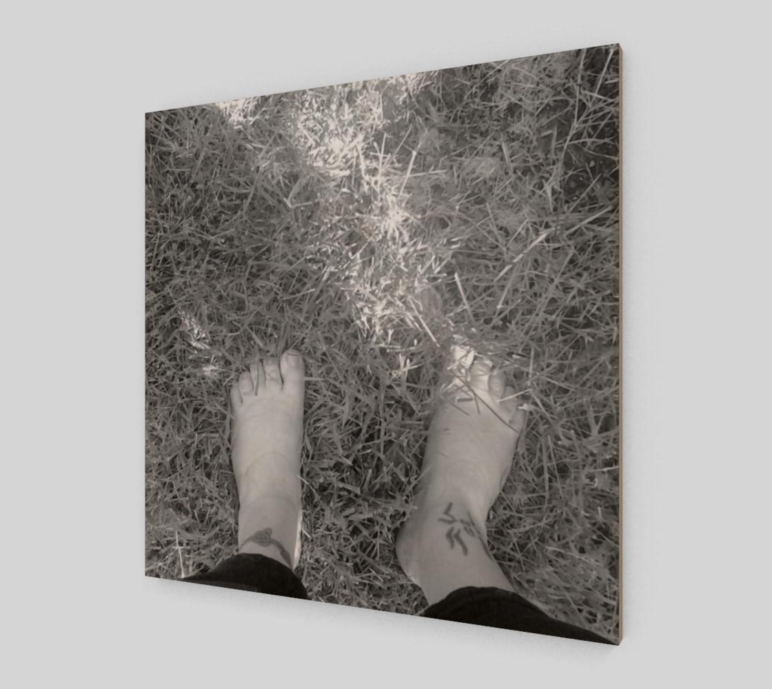 Feet Self Portrait in BW Wall Art preview #2
