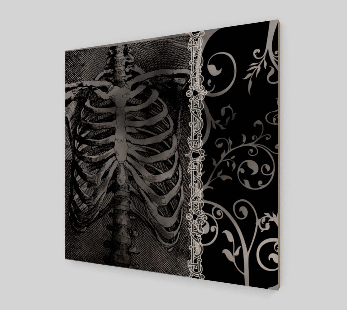 The Beauty Of Death Gothic Art Print preview #2