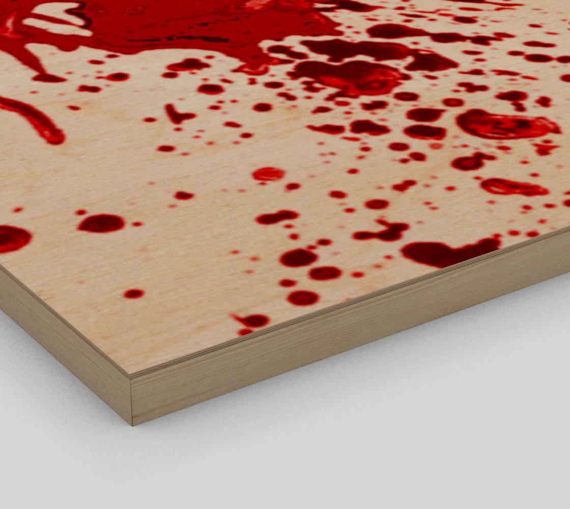 Blood Splatter 1 wall art preview #3