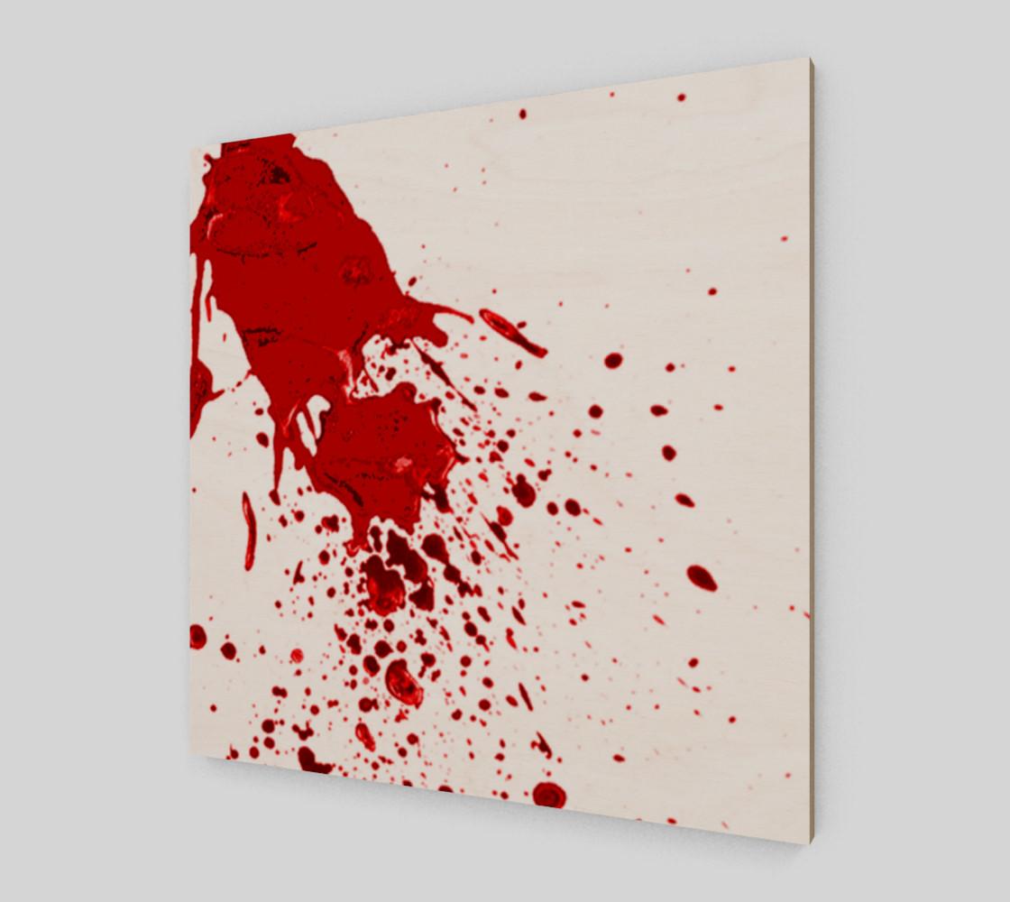 Blood Splatter 1 wall art preview #2
