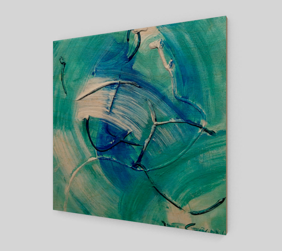 Aperçu 3D de Sea Green Abstract Painting by Janet Gervers