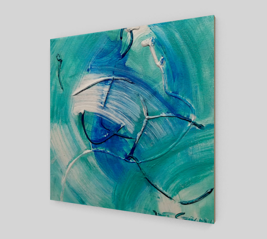 Sea Green Abstract Painting by Janet Gervers Miniature #3