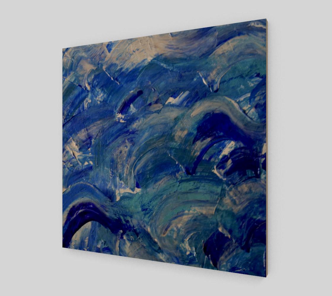 Aperçu de Shimmer Waves - Abstract Art by Janet Gervers 2018 #1
