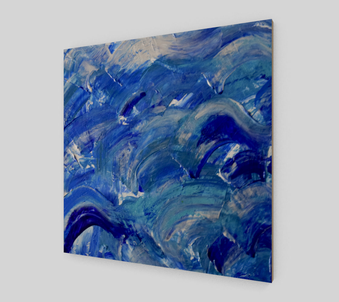 Shimmer Waves - Abstract Art by Janet Gervers 2018 preview #2
