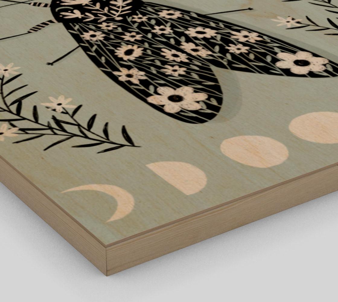 Moon Moth Art Print 16 x 20 preview #3