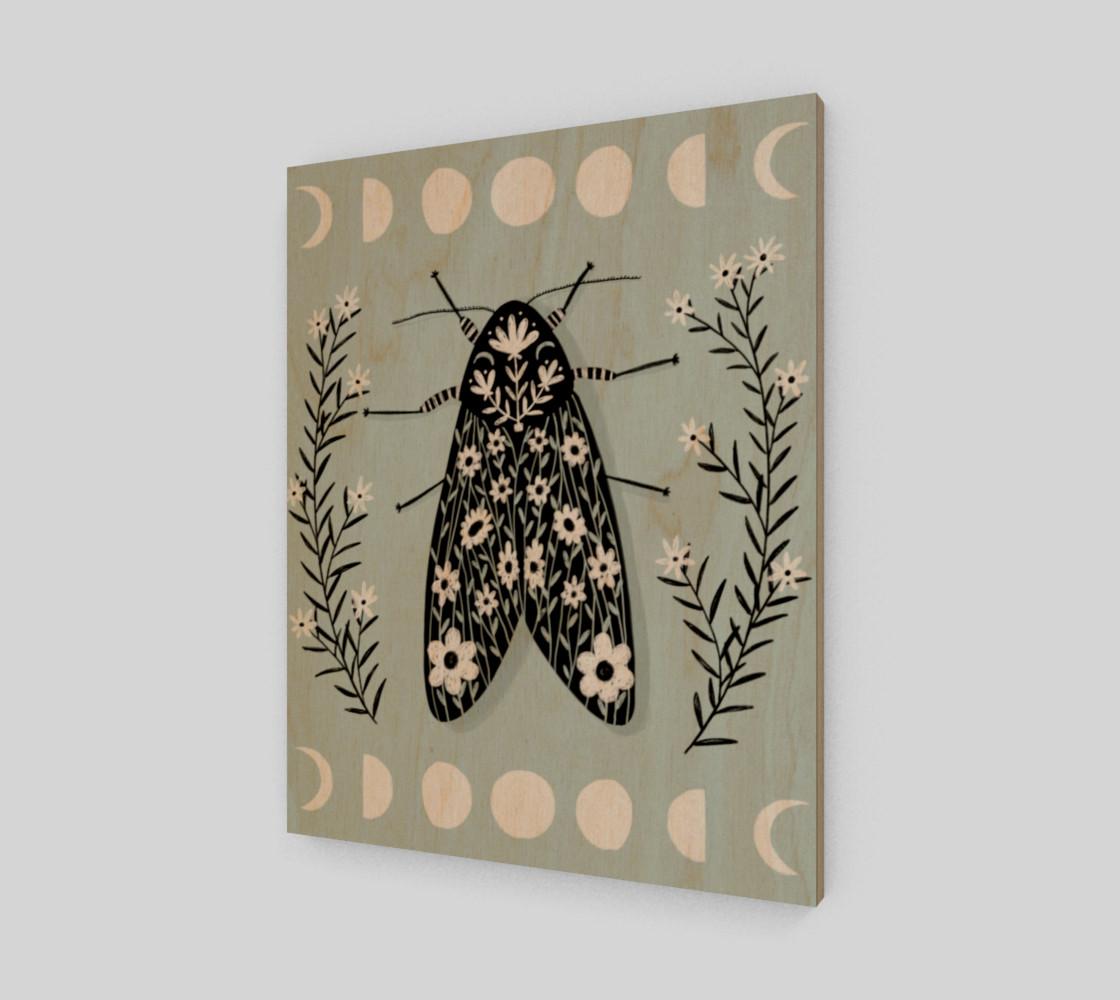 Moon Moth Art Print 16 x 20 preview #1