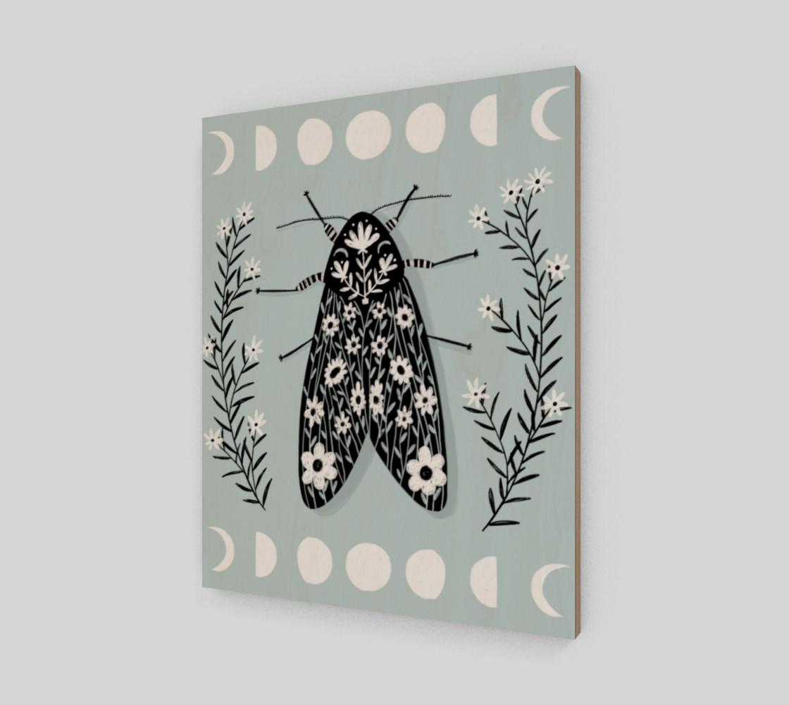 Moon Moth Art Print 16 x 20 preview #2